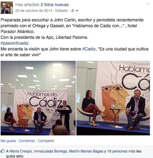 Libertad Paloma entrevista al periodista y escritor John Carlin